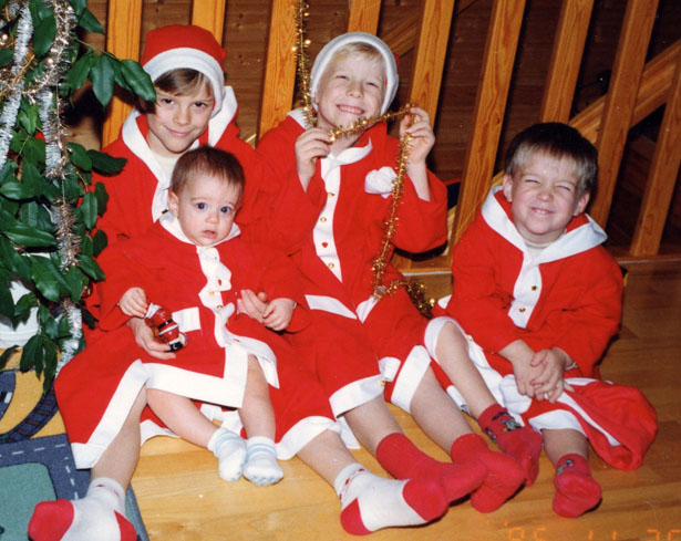 blog ellen4260 Our sons with new Chrismas coats when they where young