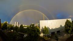Regenbogen über Reinhausen (Juni 2014)