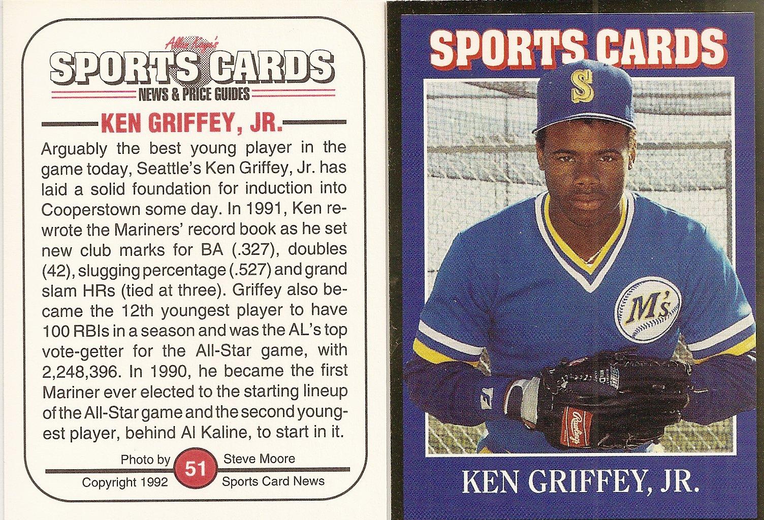 Ken Griffey Jr Price List Supercollector Catalog