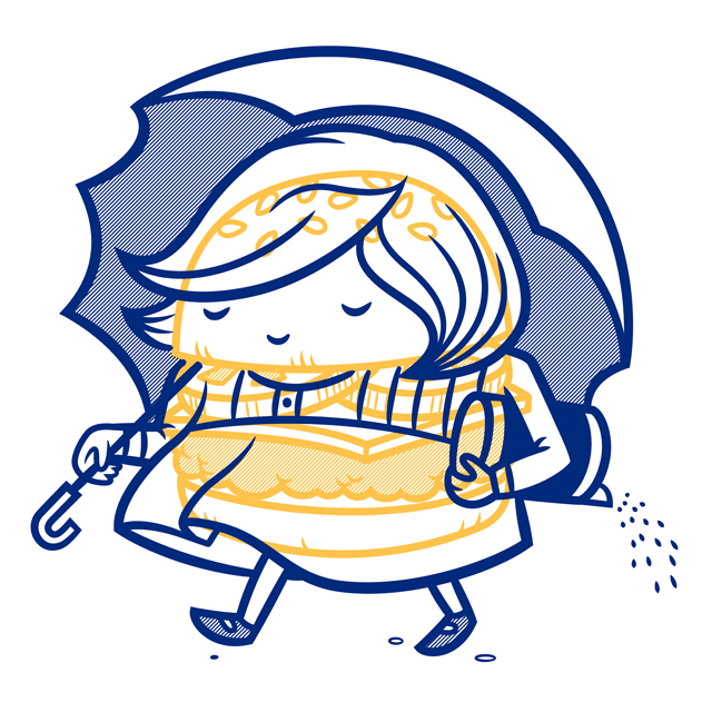 Cheeseburger Morton Salt Girl