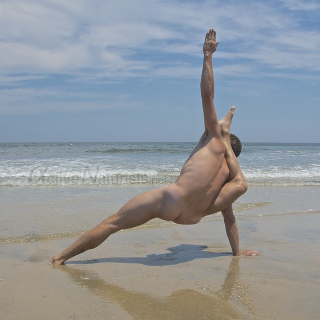 naturist yoga 0005 Sandy Hook, NJ, USA