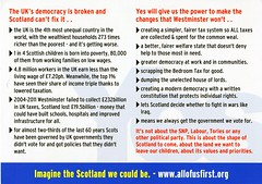 Yes Scotland flyer 'The most successful countries in the world are small. Scotland has the wealth, resources and people to be one of them.' June 2014
