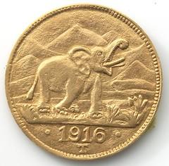 1916 German East Africa 15 rupie obverse