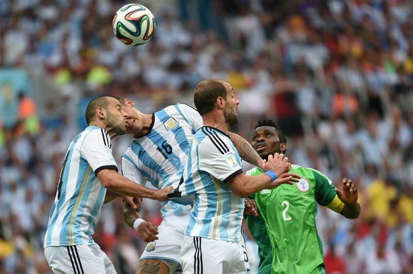 (55)BRASIL-PORTO ALEGRE-MUNDIAL 2014-NIGERIA VS ARGENTINA