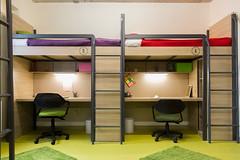 classroom(0.0), bunk bed(0.0), furniture(1.0), room(1.0), bed(1.0), interior design(1.0), dormitory(1.0),