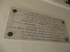 Photo of Alfonso XIII marble plaque