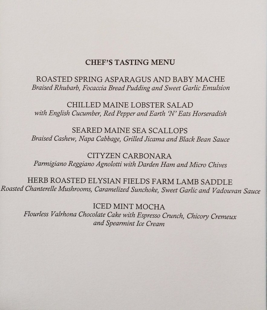 Cityzen- Chef Tasting Menu