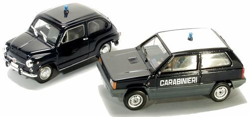 Brumm Fiat 600 e Panda Carabinieri