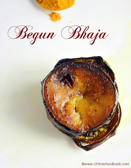 Bengali style begun bhaja