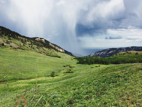 Remnants of a lightning storm that struck on The Haul at the Bighorn Mountain Trail Run