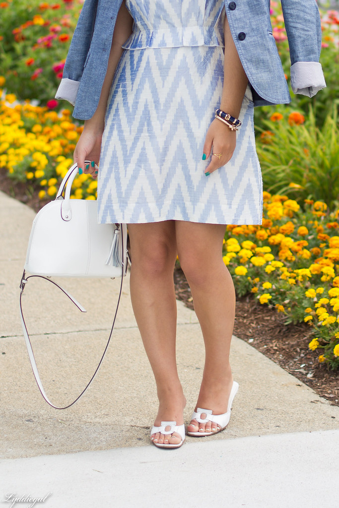 chevron dress, chambray blazer-1.jpg