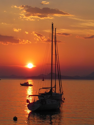 sunset sun de soleil boat coucher croatia bateau cavtat croatie hrvatska flickrawardgallery