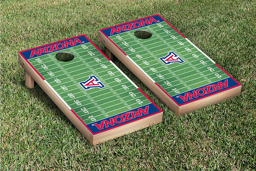 Arizona Wildcats Cornhole Game Set Football Field