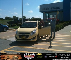 #HappyAnniversary to Claude And Mary Morrow on your 2014 #Chevrolet #Spark from Gene Klinkerman at Four Stars Auto Ranch!