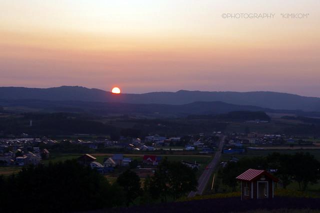 日の出公園の夕陽