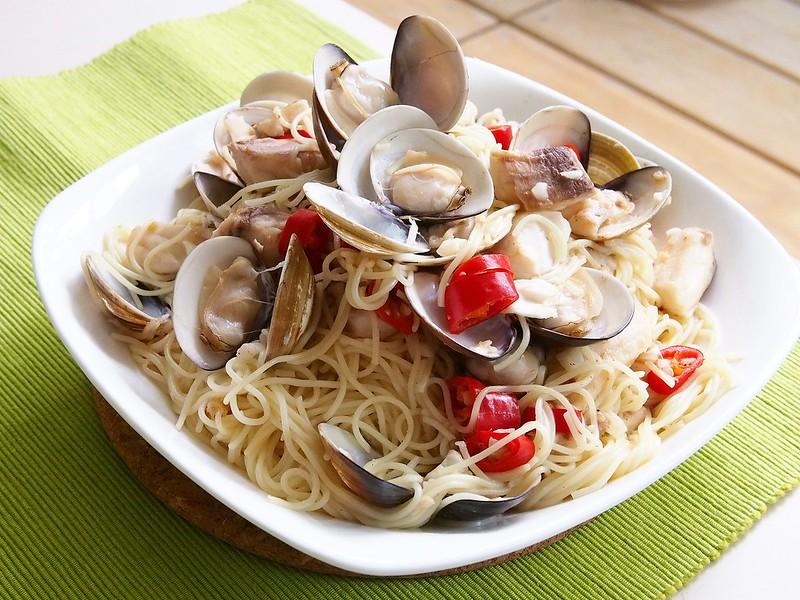 day060-午餐-鯛魚蛤蜊義大利麵