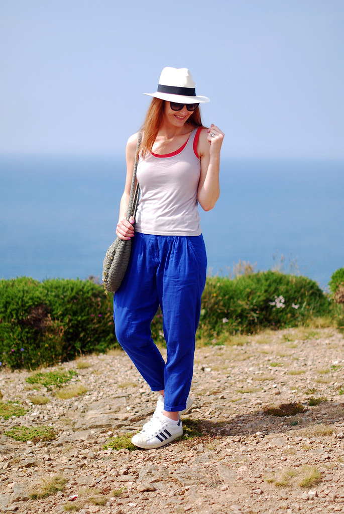 Summer casual, Panama hat