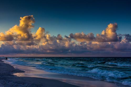 ocean blue sea sky gulfofmexico clouds sunrise blog sand unitedstates florida floridatrip miramarbeach destin2014