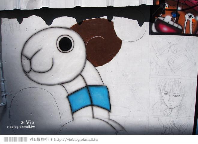 【台中海賊王彩繪】台中新遊點!小巷裡出現海賊王彩繪牆~ONE PIECE迷必訪!21