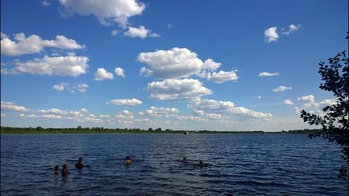 summer sky water clouds finland river kittilä ounasjoki pureview nokialumia1020