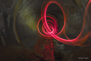 Drain Light painting
