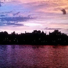 Across the river to Chelsea #London #Thames #sunset #twilight