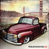 Truck Tuesday with a little spoonful of Advance-Design Chevy pickup... #drawingtrucks #rendering #illustration #chevy #slammed #goldengate #art