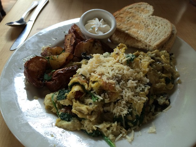 Grilled portabella mushroom scramble - Mother's Bistro & Bar