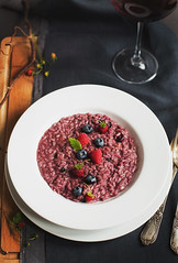 Risotto with wild berries