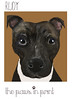 Rudy PJ staffy cross the paws in print