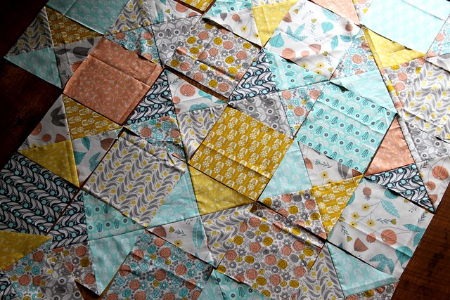 hourglass twist quilt beginnings