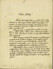 029. IV. Károly köszönőlevele Horthy Miklósnak