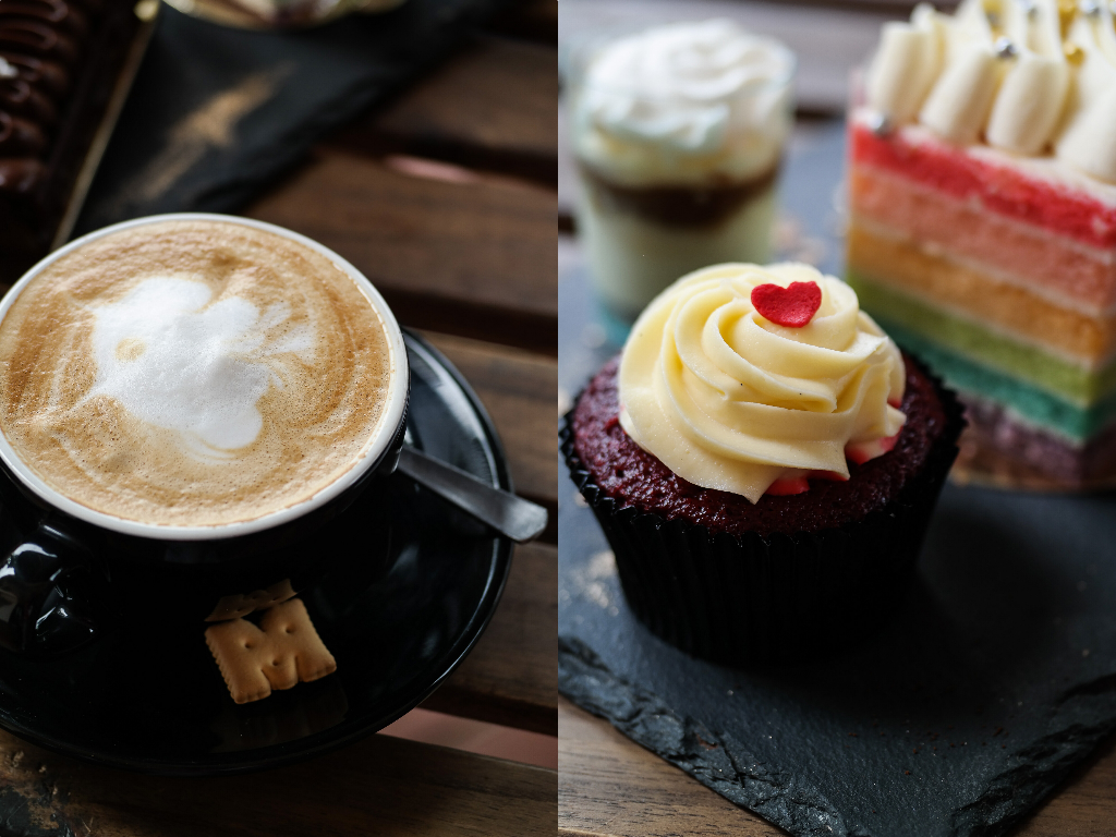 The Bakery Chef's coffee & cupcake