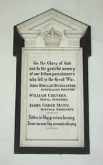 war memorial (by Munro Cautley?)