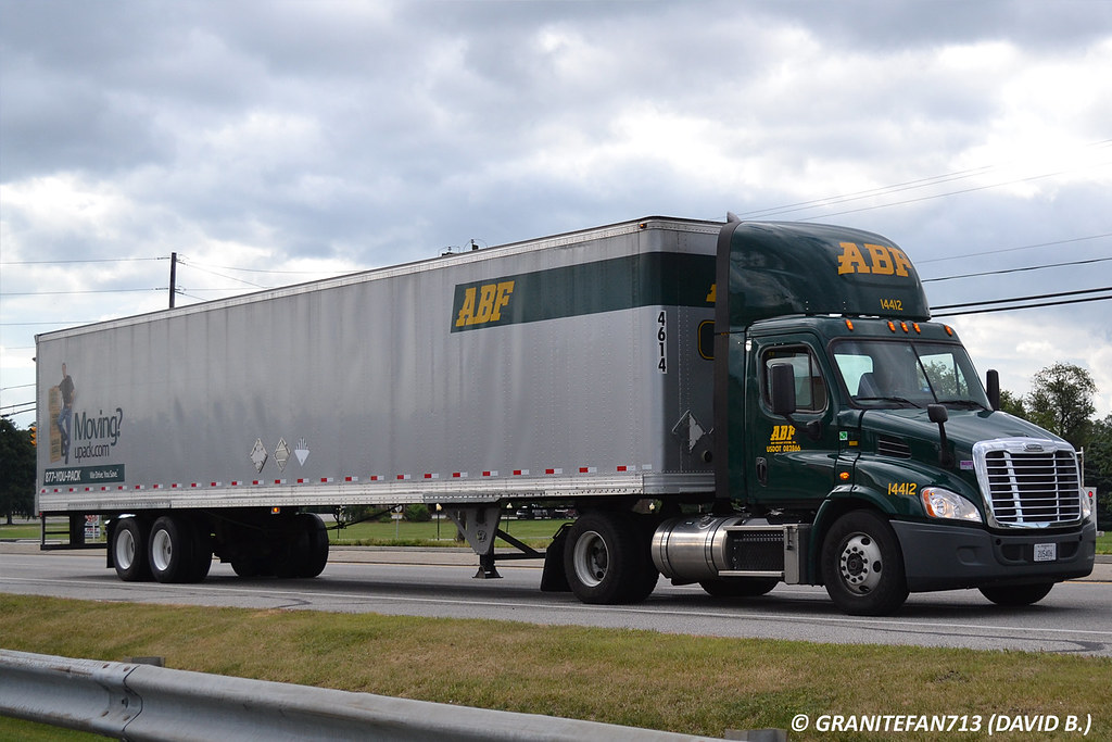 ABF Freight Freightliner Cascadia with a Van