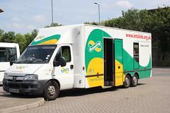 Hertfordshire County Council . KE54HKU . Bus Interchange , Bishops Stortford , Hertfordshire . Thursday 31st- July-2014 .