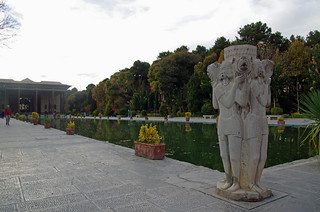 Iran 2016  Ispahan Palais Chehel Sotun extérieur (6)
