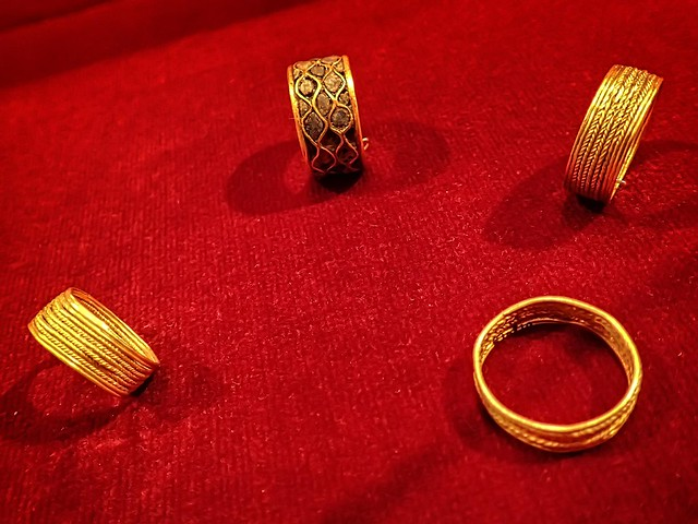 Golf finger rings  recovered from the royal cemetery of Ur, Iraq 2550-2450 BCE