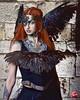 The Viking Goddess of Night. Designer: @sigrun_vikingart Photo by @jamesalexanderlyon  Model @aleshia_jane  MUAs @milly.the.pink #viking #goddess #night #fashionpost #headpiece #headdress #picoftheday #beauty #tattoo #gothic #norsemythology #emergingdesig