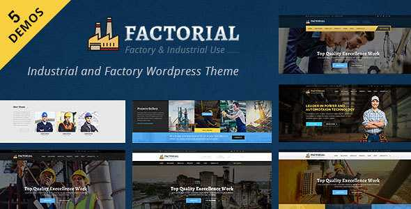 Factorial WordPress Theme free download