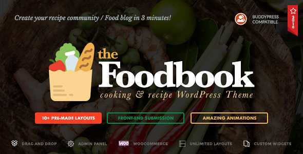 Foodbook WordPress Theme free download
