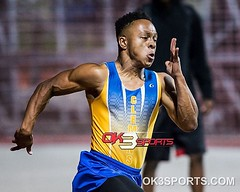 Clemens' Kyle Lewis during the 200m Clemens Invitational track meet. #ok3sports #trackandfield #tracknation #milesplit