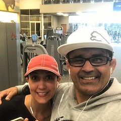 Today is my daughter Leanna's birthday and you celebrating working out early at LA FITNESS In Dallas ,TX #sonsofcavalcantidallas #ricardocavalcantibjjdallas #lafitness