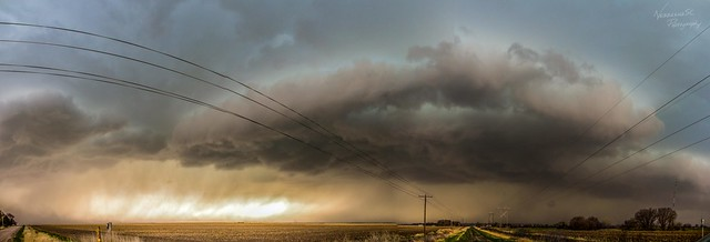 040917 - Early April Nebraska Thunderstorms (Pano)