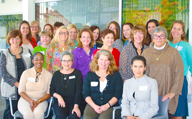 <p>AUSB Women & Leadership Certificate Program, Class of 2014 with Faculty: Judy Bruton, JD, MSW, Program Director (second from left, front row); and Jon Goodman, PhD, Guest Speaker (far right, middle row)</p>