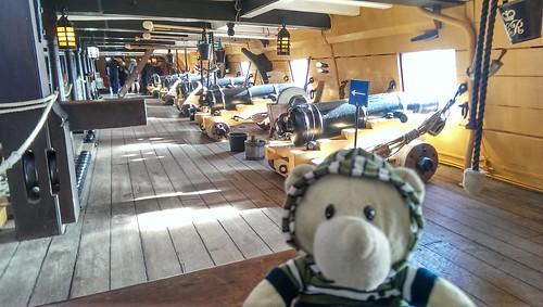 Phil on HMS Victory