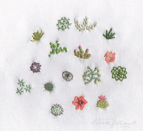 stitched succulents