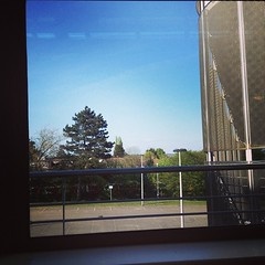 Stuck in the library with this view. #joy #springsunshine #uni #photography #essay #focused #deadlinelooming #threethousandwords