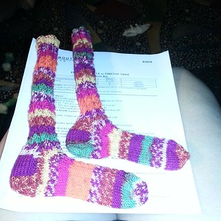 Crazy socks are done.   Zoe will be excited!