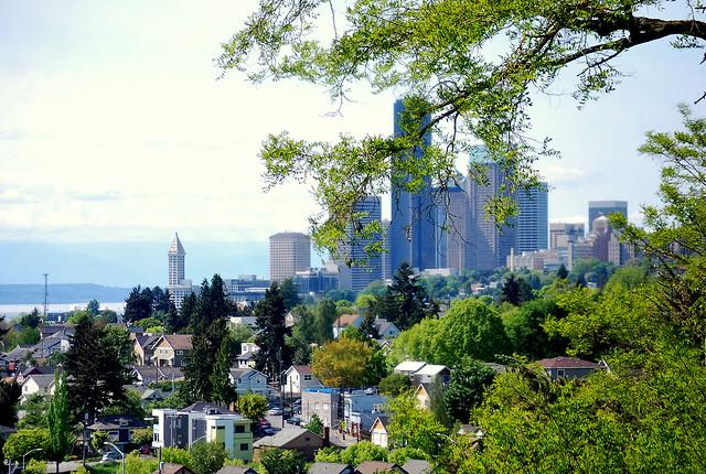 Seattle Skyline From Mount Baker Ridge Viewpoint